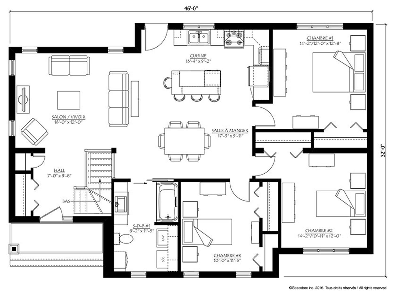 Maison Plain Pied Prefabriquee Modele Maison Usinee Plain Pied 505 B Action Maisons