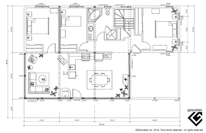 plan de maison usinée