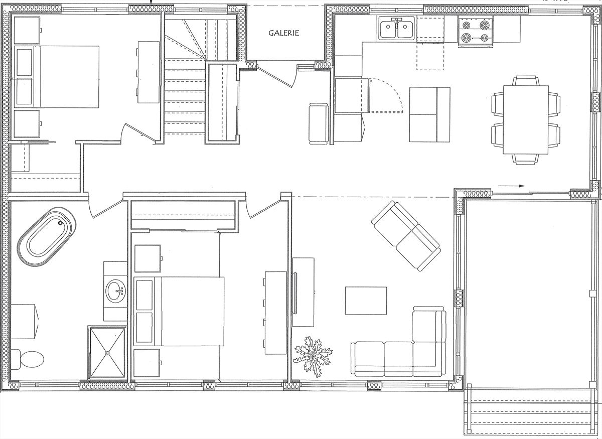 Maison Plain Pied Prefabriquee Modele Autres Versions De Plan Pour La 756 C Action Maisons